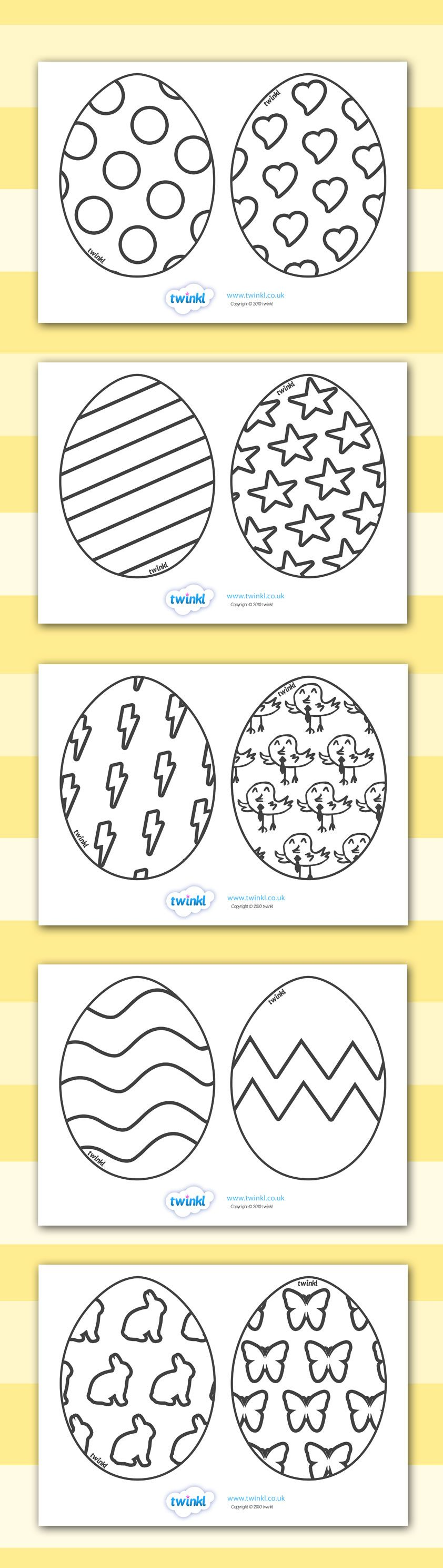 Twinkl Resources >> Easter Egg Templates >> Printable