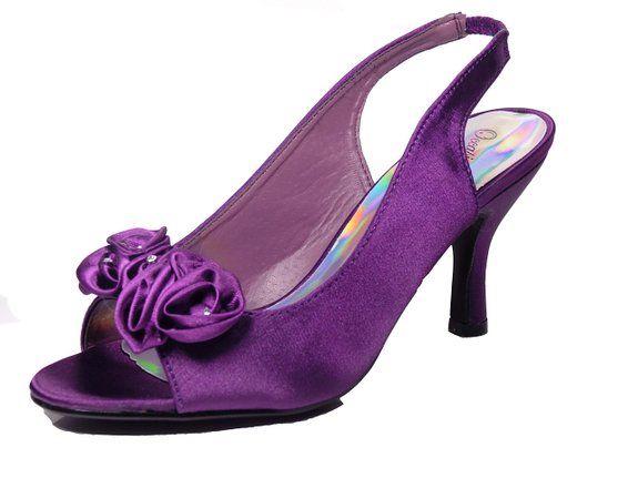 58ce063e1ad1 Ladies Womens Stunning Low Heel Diamanté Flower Petal Peep Toe Elastic Sling  Back Evening Wedding Shoes  Amazon.co.uk  Shoes   Bags