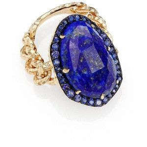 Phillips House Lenox Lapis, Sapphire & 14K Yellow Gold Cocktail Ring
