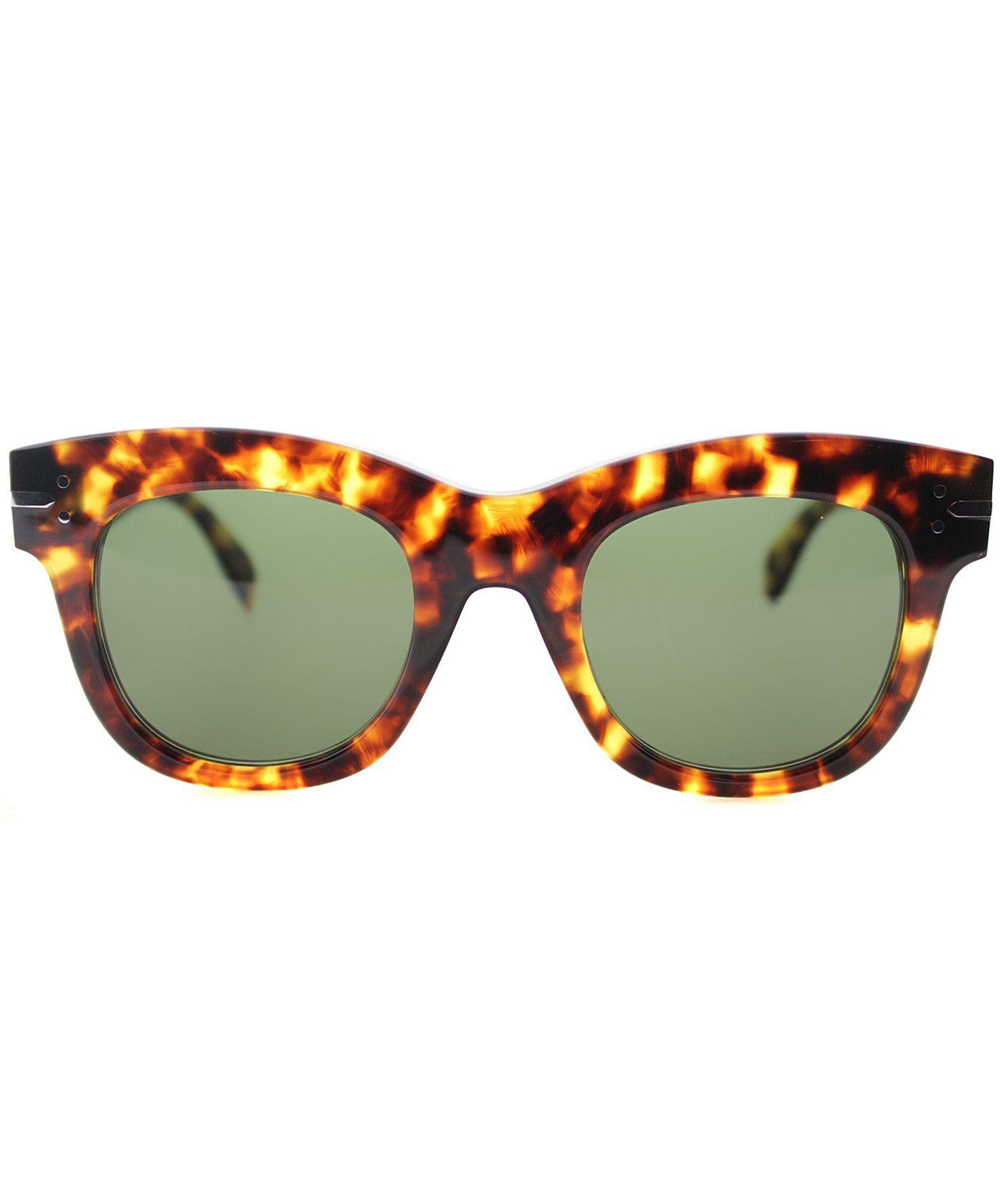 401a412f0641 The Celine Celine CL 41079 E88 Blonde Tortoise Round Plastic Sunglasses at  Bluefly.