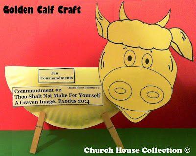 Golden Calf Paper Plate Craft