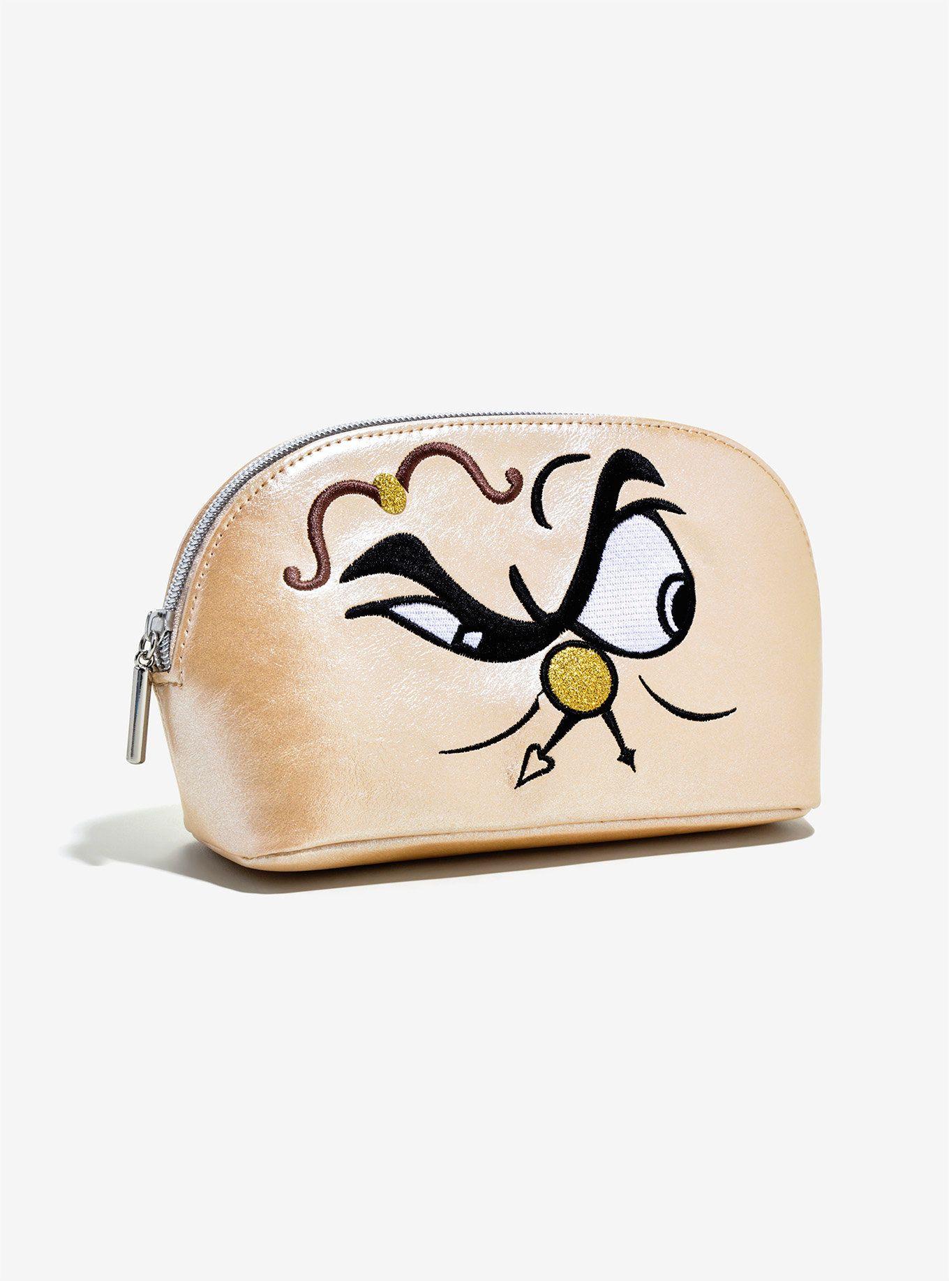 Danielle Nicole Disney Beauty And The Beast Cogsworth Makeup Bag