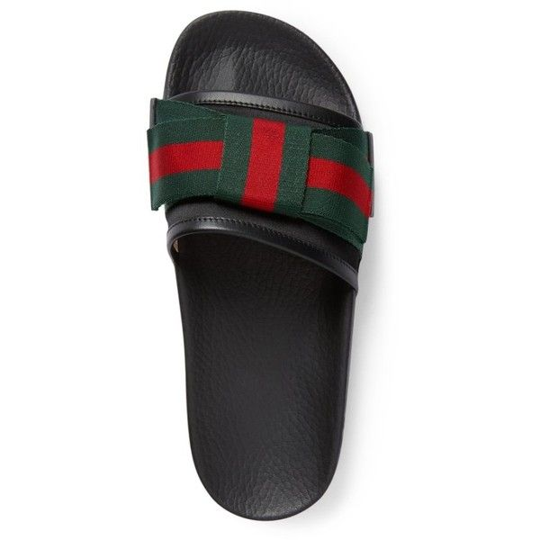 bda4bf6909c Women s Gucci Pursuit Bow Slide Sandal ( 520) ❤ liked on Polyvore featuring  shoes