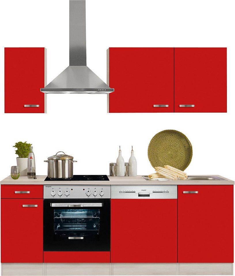 Optifit Küchenzeile ohne E-Geräte »Faro«, Breite 210 cm Jetzt - küchenzeilen ohne geräte
