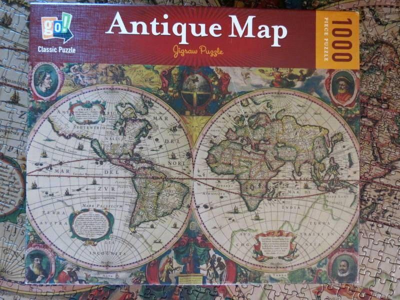 Aquarius Puzzles Subway Map.Antique Map Jigsaw Puzzle 1000 Piece Puzzles Jigsaw Puzzles