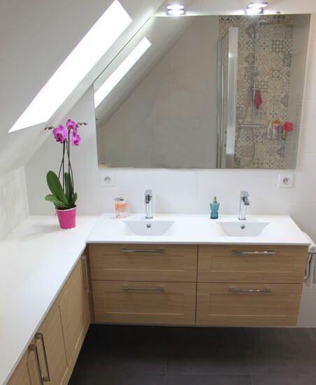 Miroircoupésurmesuresouspente Combles Aménagés Pinterest - Miroir salle de bain lumineux sur mesure
