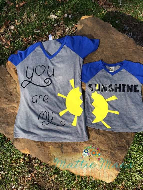 b56a67f7 Mothers Day Special***Matching Mommy and Me You Are My Sunshine Shirt Set