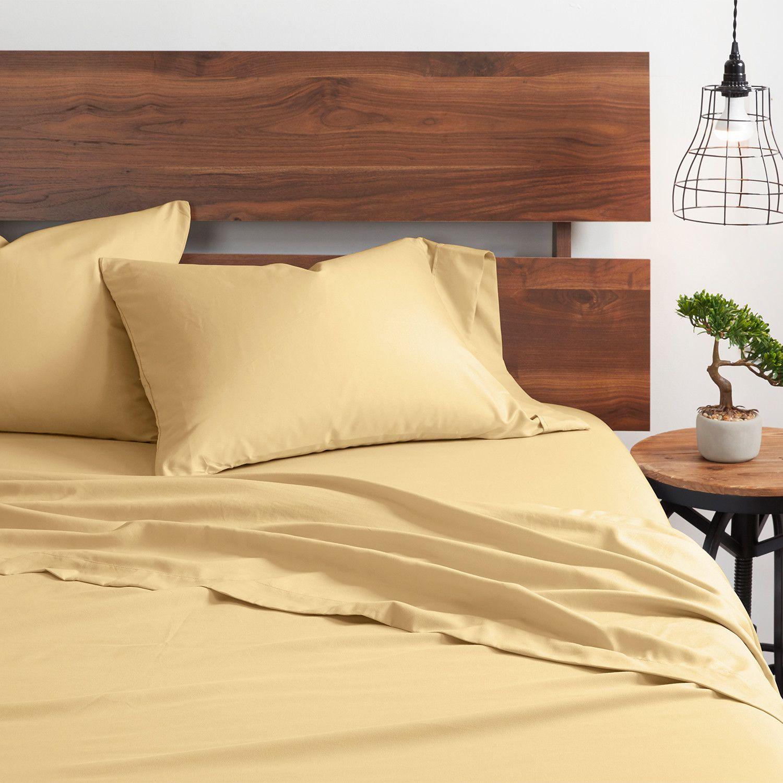 Good Kind Essential 6 Piece Bed Sheet Set Gold Sponsored Essential Piece Good Kind In 2020 Bed Sheet Sets Bed Sheets Sheet Sets