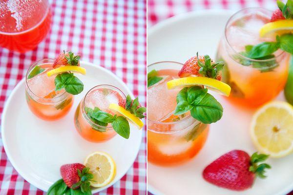 Strawberry Lemonade #basillemonade