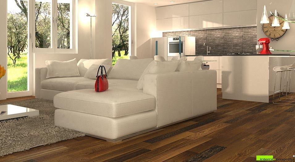 Soggiorno Con Angolo Cottura Moderno. Interesting Idee ...