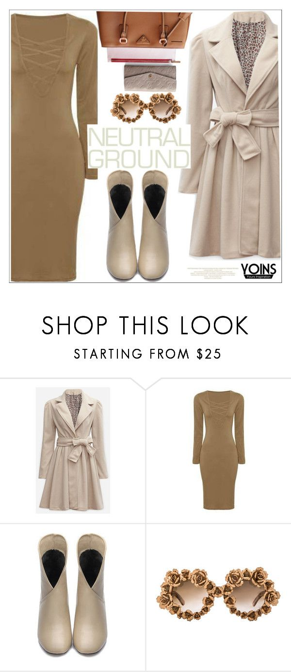 """Cool Neutrals"" by teoecar ❤ liked on Polyvore featuring A-Morir by Kerin Rose"