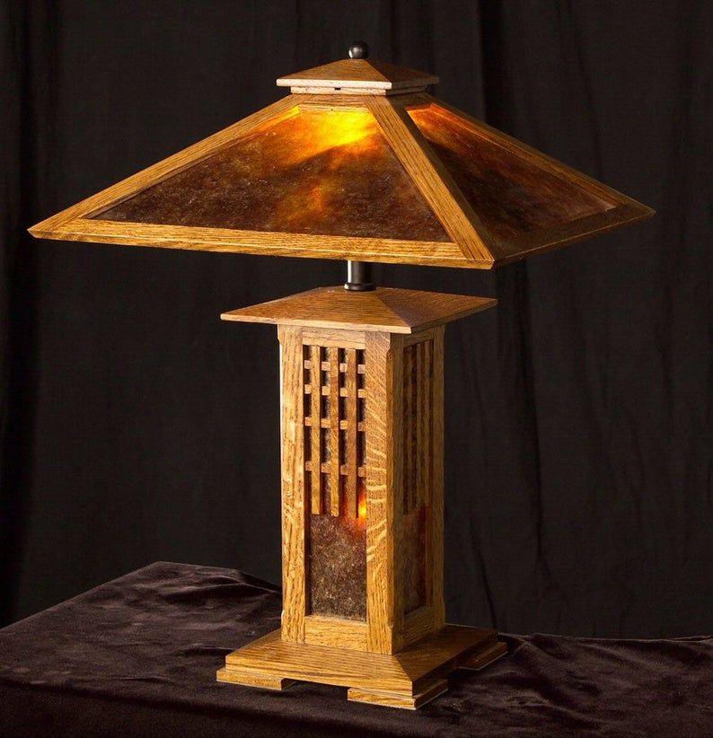 BuilttoOrder Mission Style Table Lamp Arts and Crafts