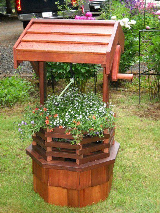 Wishing Well Planter | wishing wells | Pinterest | Planters, Gardens ...