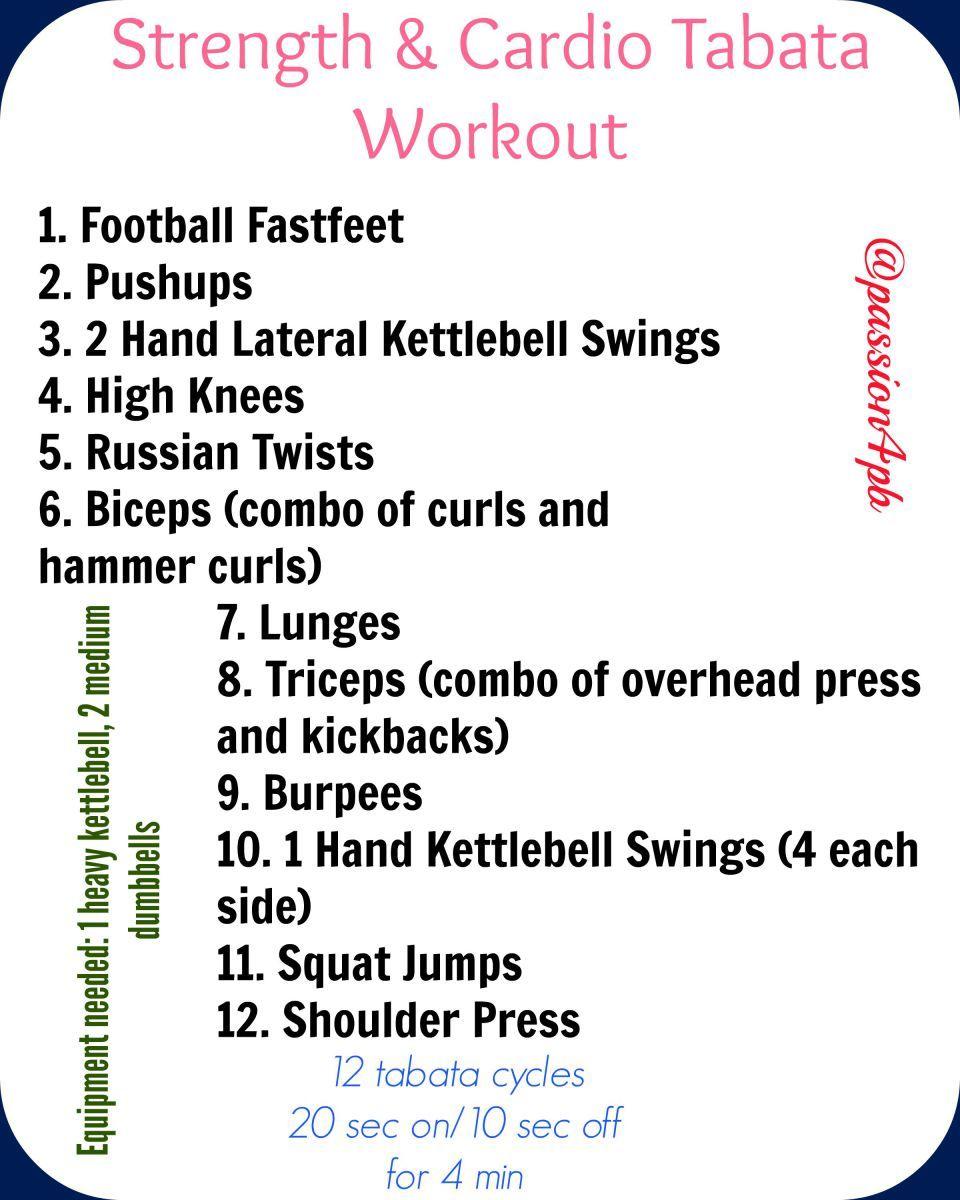 Strength & Cardio Tabata Workout | Tabata, Cardio and Strength