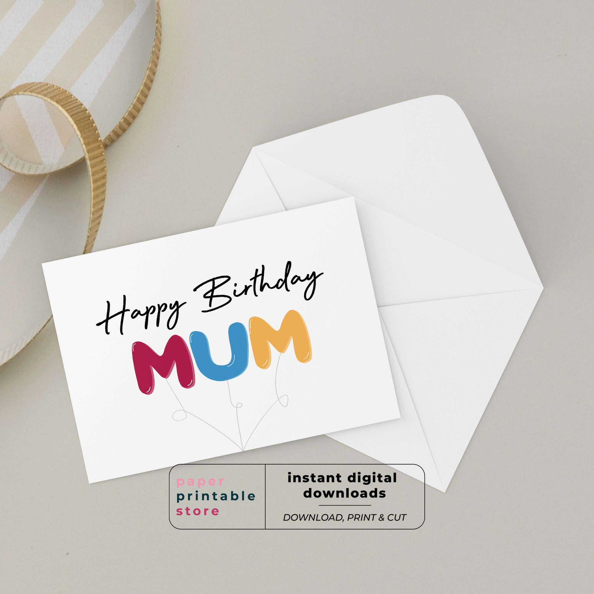 Excited To Share This Item From My Etsy Shop Birthday Card For Mum Mum Birthday Card Happy Bir In 2021 Birthday Cards Birthday Cards For Mom Birthday Cards For Mum