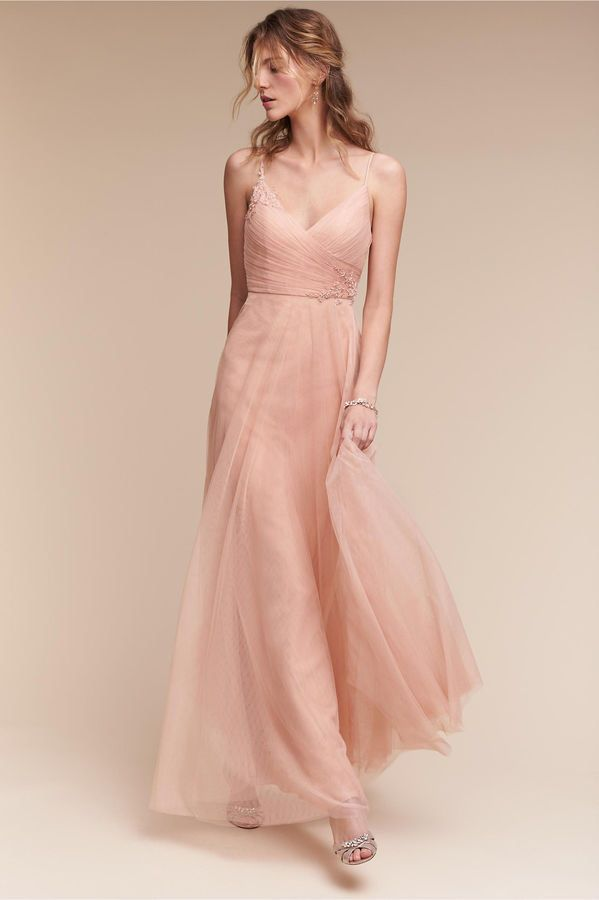 59e273021bdd Brielle Dress - pale blush flowy romantic bridesmaids dress ...