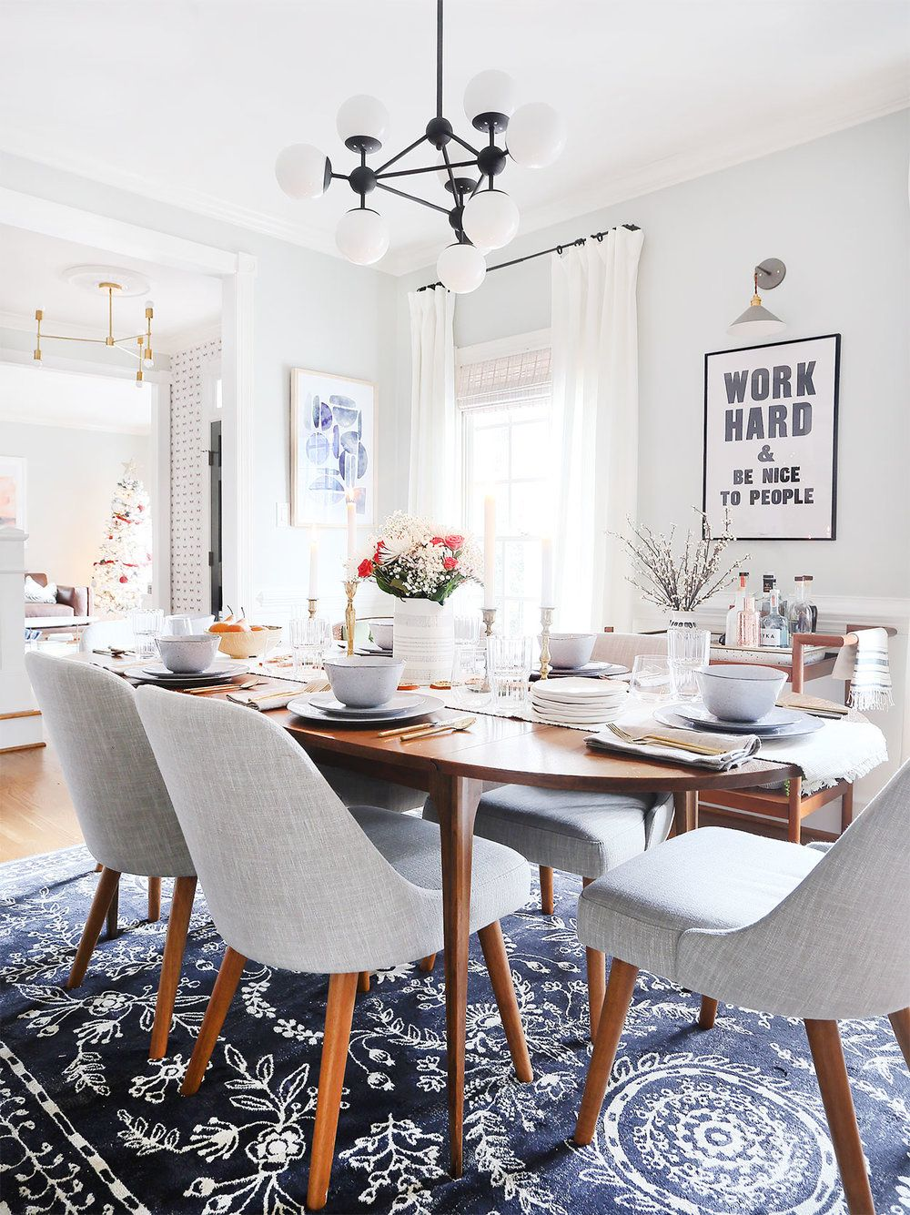 My modern & organic holiday tablescape in 2020 Dining