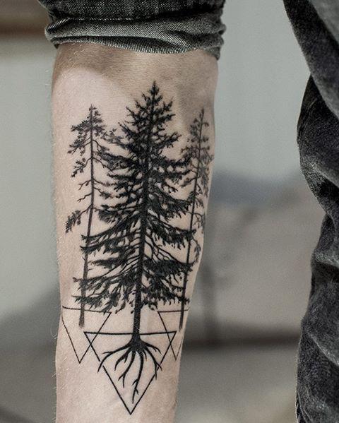 Pine Tree Tattoo Pine Tattoo Tattoos For Guys Tree Tattoo Men
