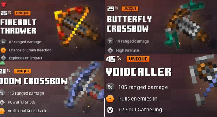 Best Crossbows In Minecraft Dungeons Dungeon Minecraft All Minecraft