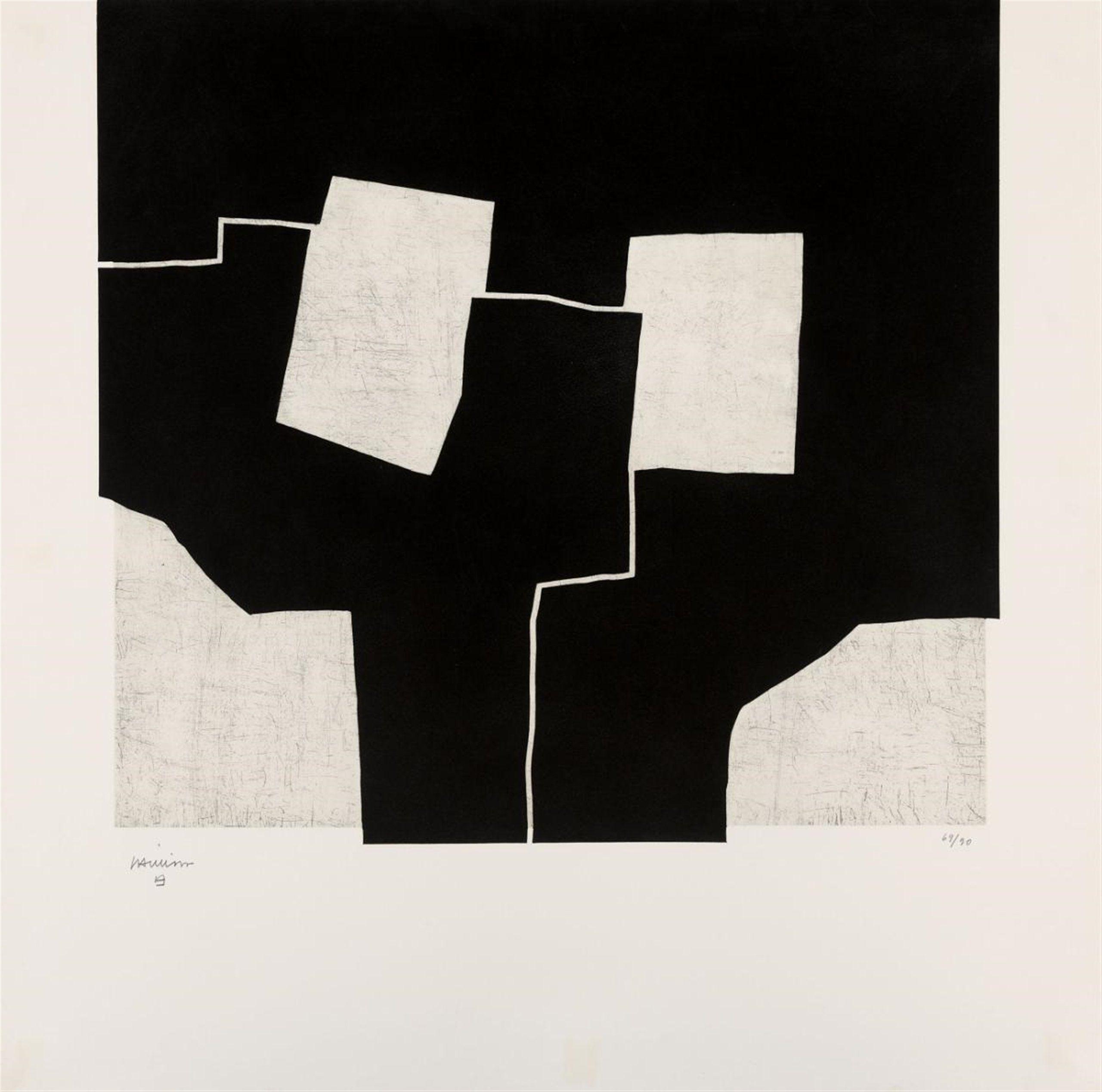 Eduardo Chillida Urrutiko 1972 Auction 1014 Contemporary Art May 24 2013 Lot 436 Les Arts Peintures Art Abstrait Lithographie