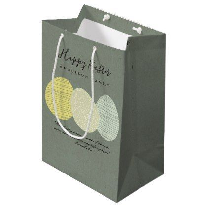 Cute soft subtle pastel easter eggs personalized medium gift bag cute soft subtle pastel easter eggs personalized medium gift bag romantic wedding gifts wedding anniversary negle Images