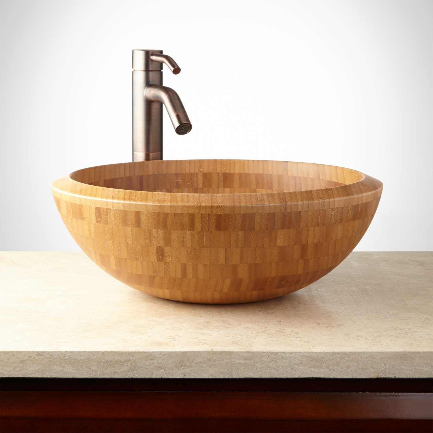 Round Bamboo Vessel Sink | Vessel sink, Sinks and Products