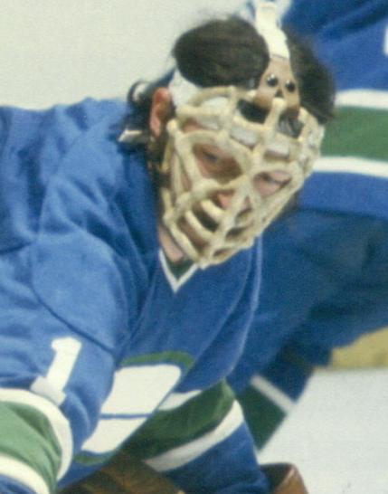 Dunc Wilson Goalie mask, Vancouver canucks, Hockey goalie