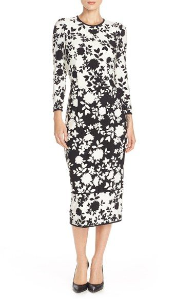 Maggy London Floral Print Jersey Midi Dress Available At Nordstrom