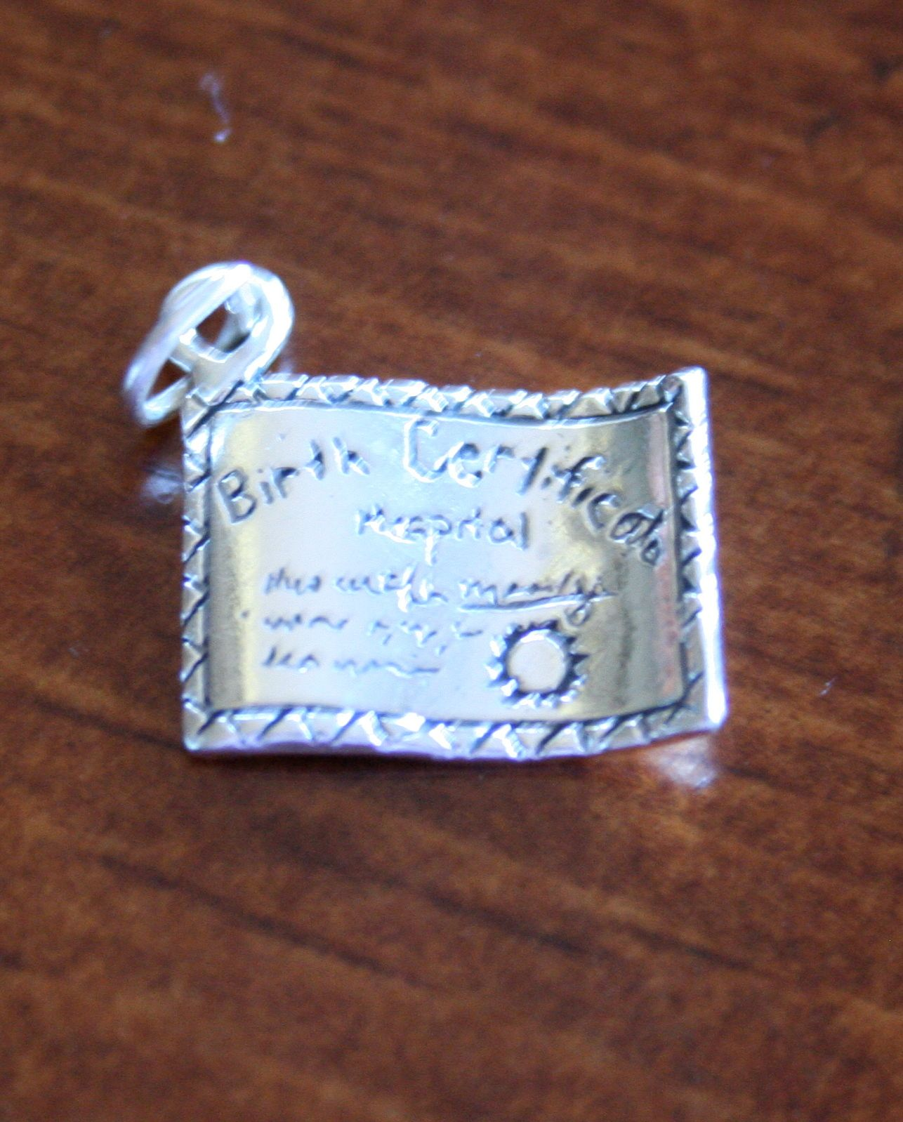 Birth certificate reg 2100 sale 1700 this baby birth this baby birth certificate charm is a great keepsake gift for a new mom mom to be or excited grandma to celebrate the arrival of a new baby order a aiddatafo Gallery