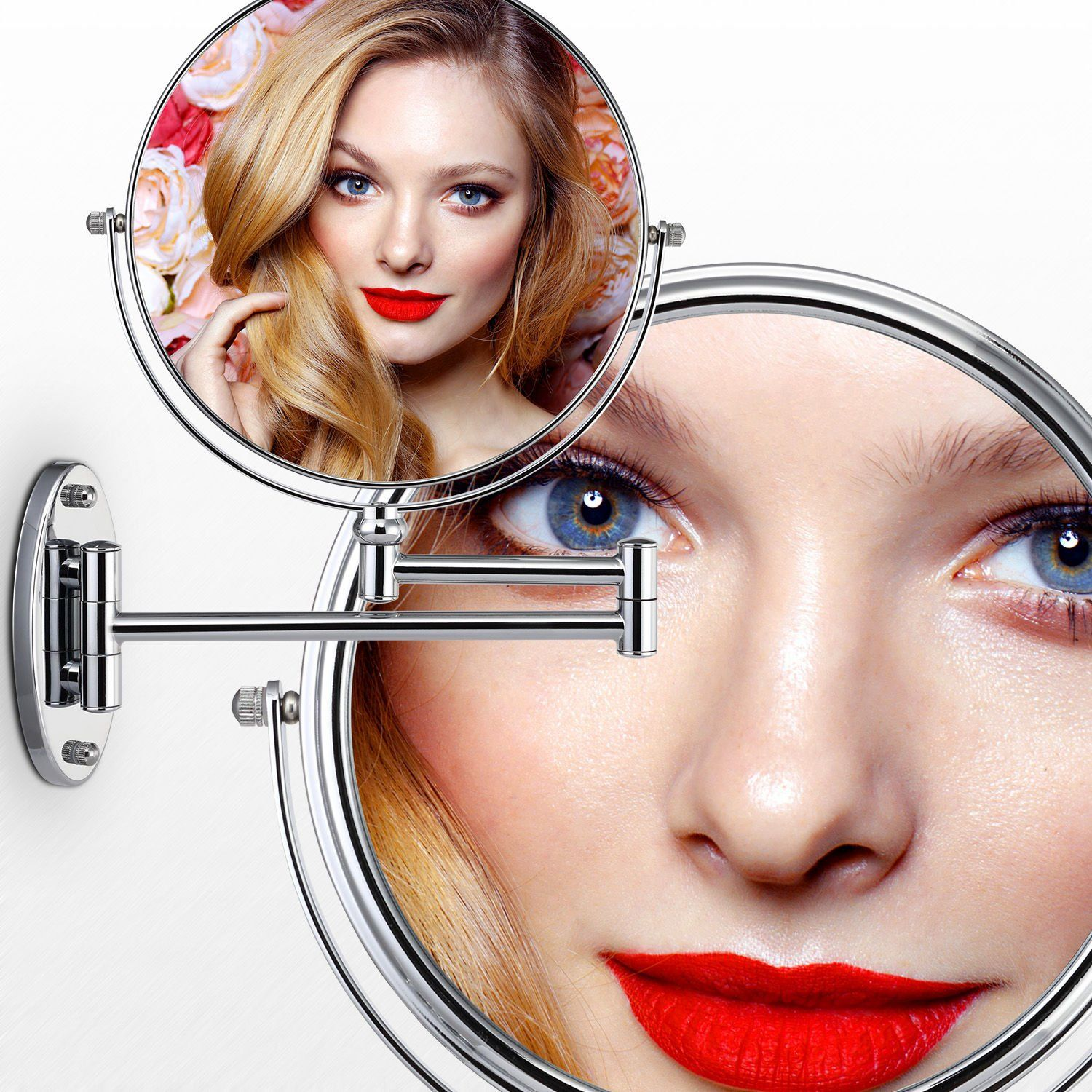 Miusco 10X Magnifying Two Sided Vanity Makeup Mirror 8