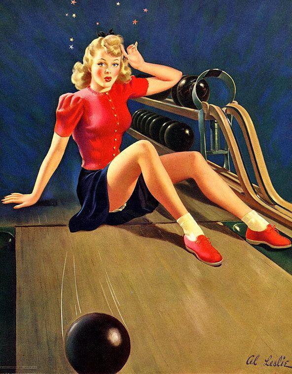 Bowling Pin Up Girl