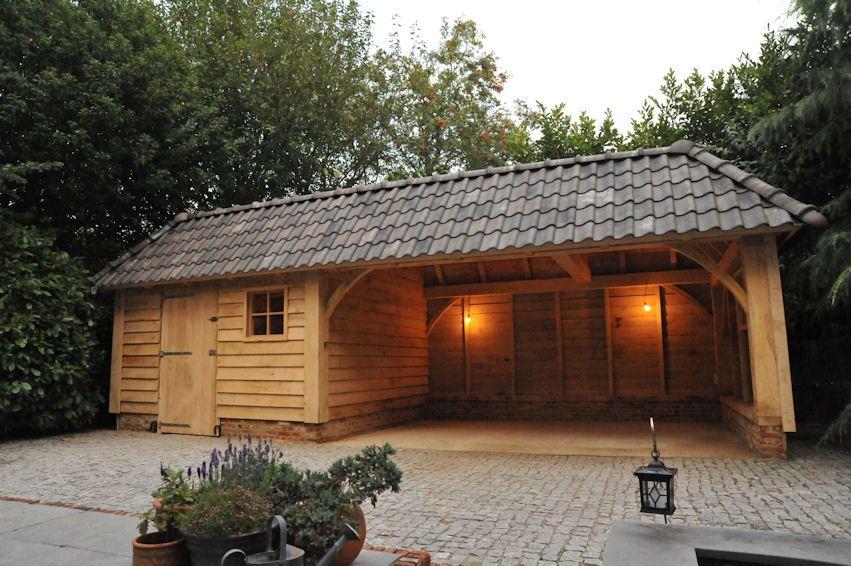 eiken-veranda-met-gebinten-zeeland-5 | Tuinhuis ...
