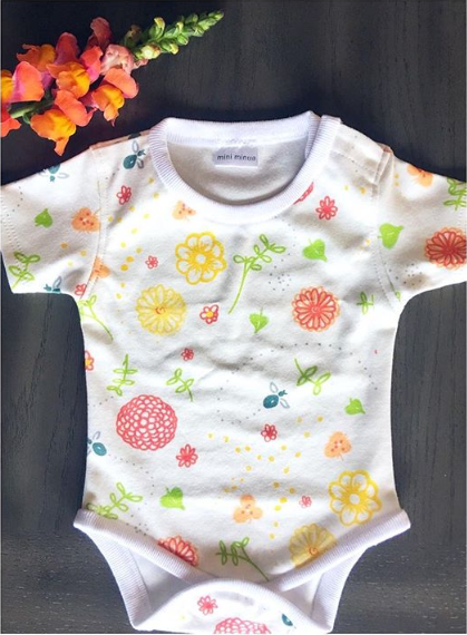 1920203419b0f Fat Bee Floral Onesie   Organic Cotton - Coming June 2019 to the #miniminua  Baby