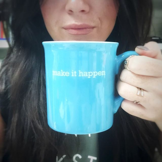 Make it happen today and everyday☕️ cheers! #abbittsassy #motivation #tuesday #powerthrough #styleblogger