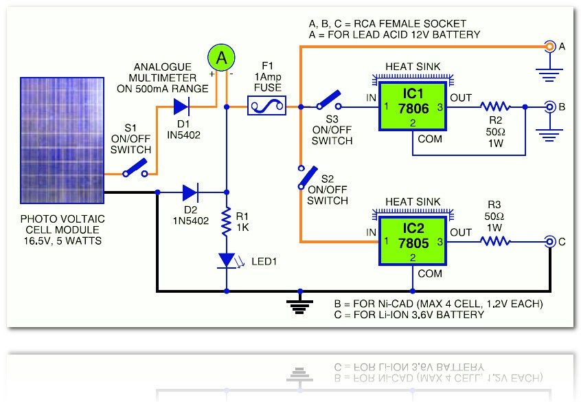 This is the circuit diagram of rechargable battery charger which use this is the circuit diagram of rechargable battery charger which use solar cell photovoltaic as the dc source this circuit works to charge 3 types of ccuart Images