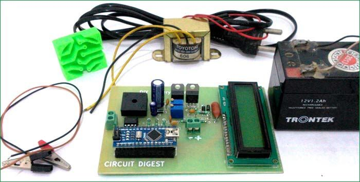 12v Battery Charger Circuit Using Lm317 Arduino Projects