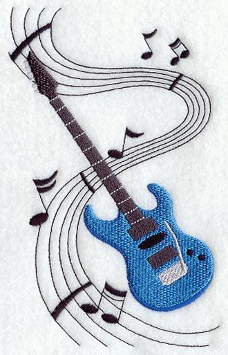 electric guitar embroidered terry kitchen by music themed quilts. Black Bedroom Furniture Sets. Home Design Ideas