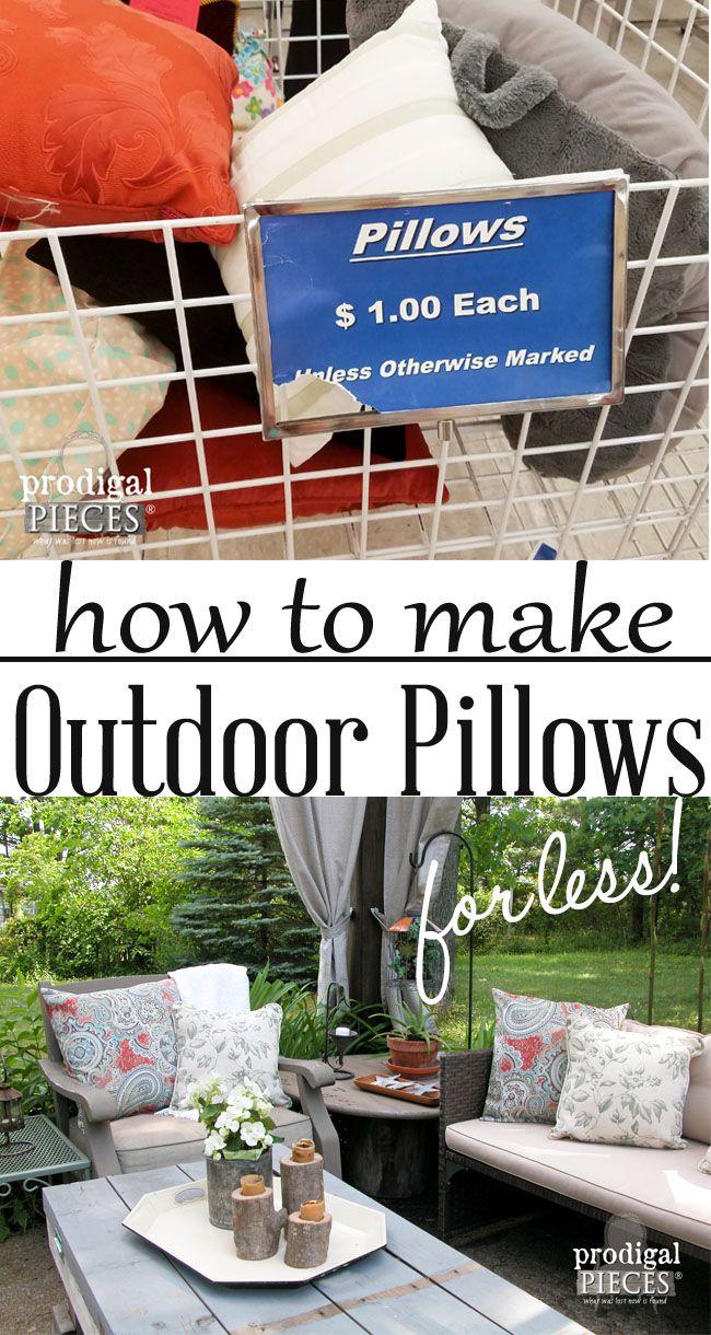 Diy Outdoor Pillows On A Budget Diy Patio Budget Patio Patio
