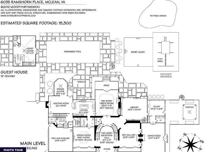 15 000 Square Foot Georgian Mansion In Mclean Va Georgian Mansion Mansions Square Feet