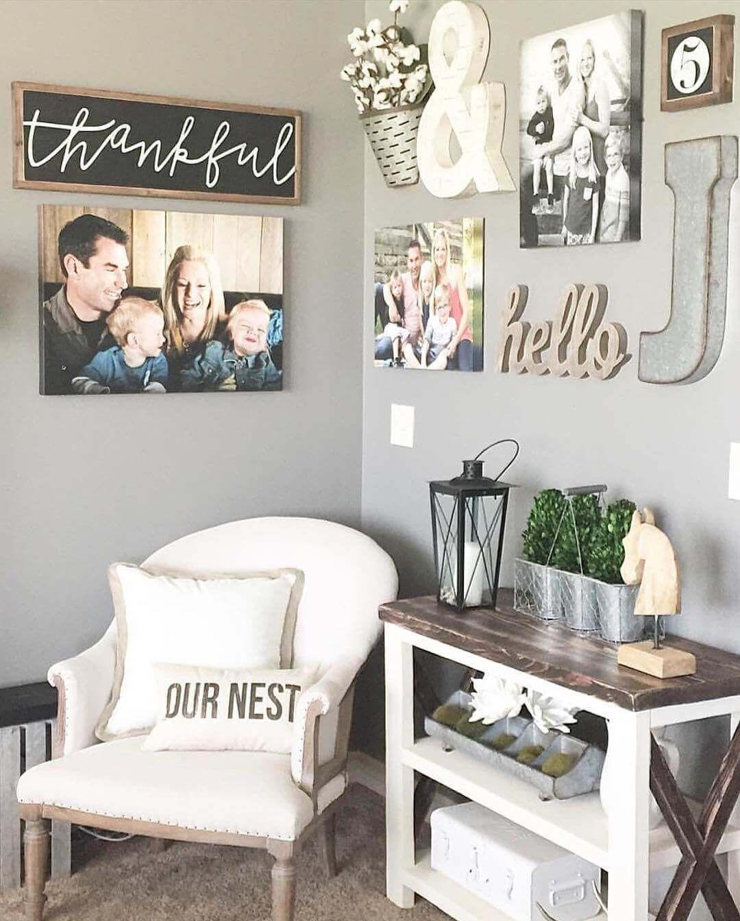 Master bedroom nook  DIY Farmhouse Living Room Wall Decor  Farmhouse Lamp  Pinterest