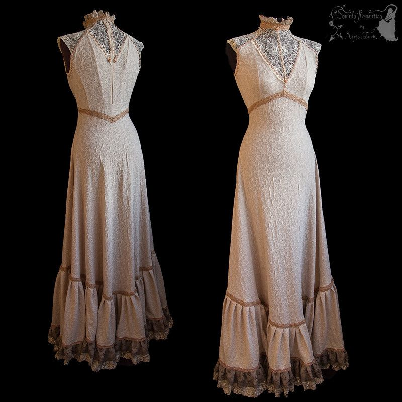 Art Nouveau Gown, Romantic, Ghostly, Dreamy By
