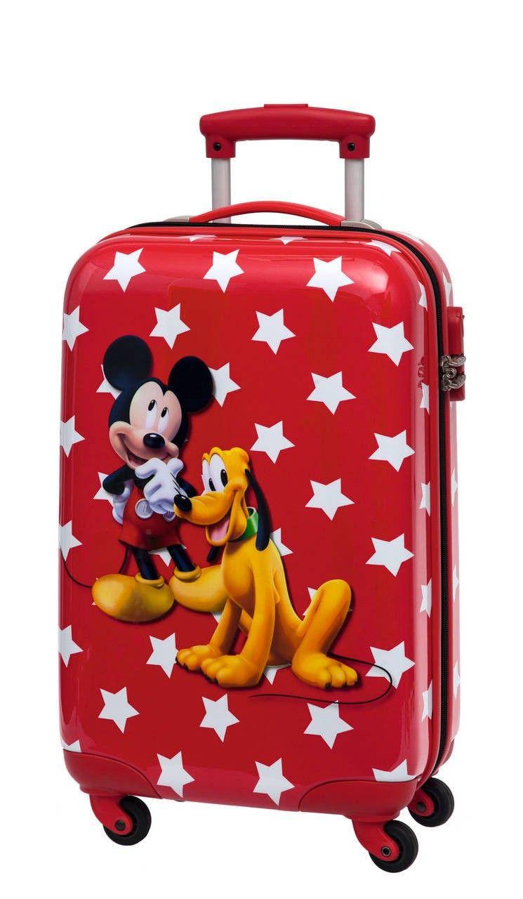 Maleta Mickey Y Pluto Stars Cabina Mp3 Cute Luggage Kids Luggage Hard Shell Luggage