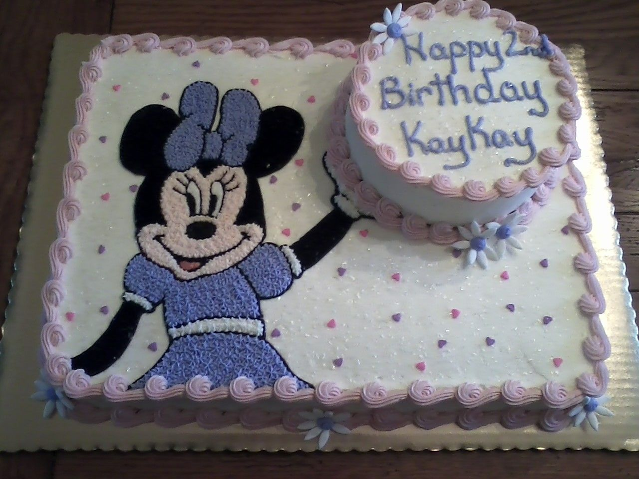 Homemade Minnie Mouse Sheet Cake Minnie Mouse Birthday ...