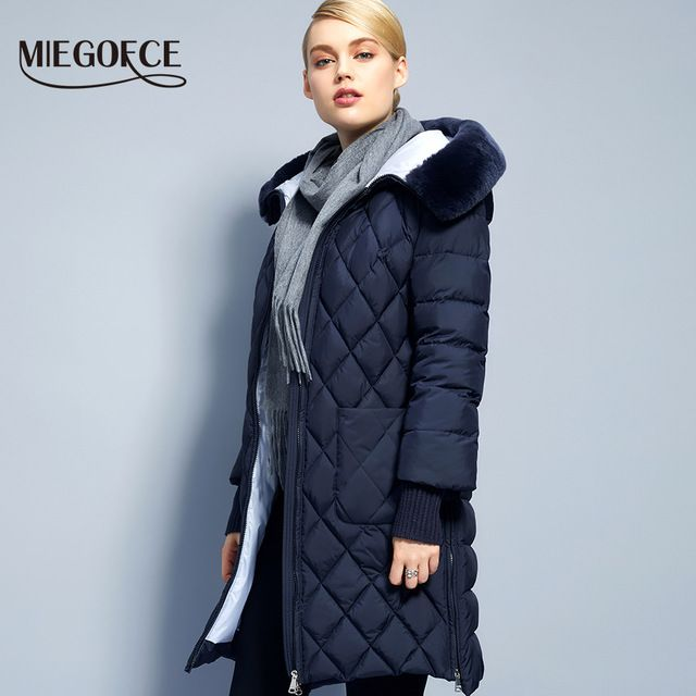 ff4681d1921c Collection Winter Womens Jacket Coat 2018 Original Fur Collar Women ...