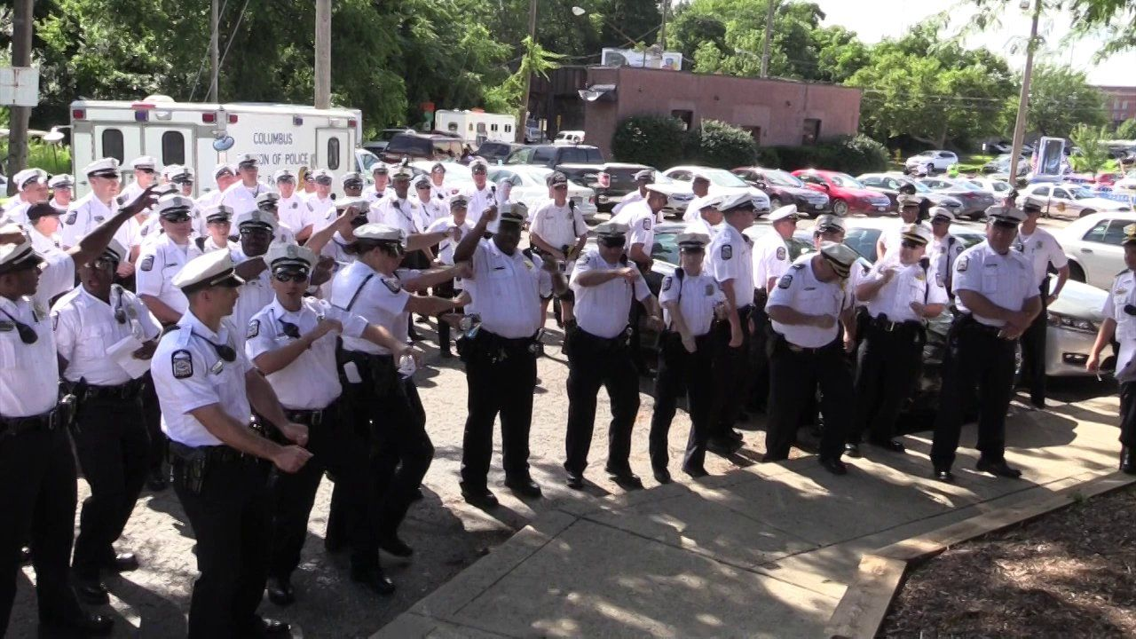 Columbus Police Red White Boom 2 Police Columbus Red