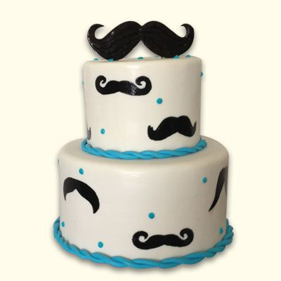 Mustache tiered cake Geek Crafting Pinterest Tiered cakes