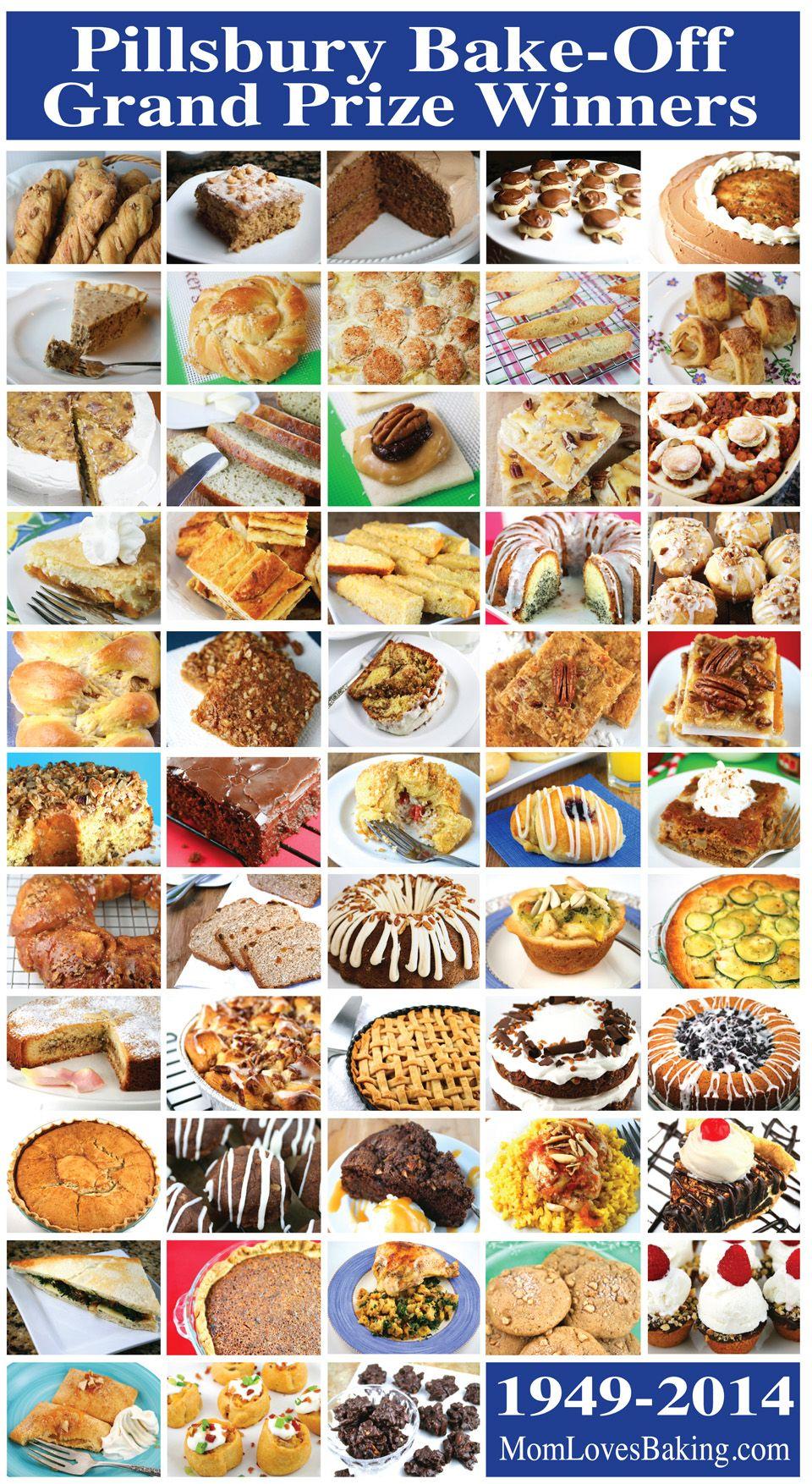 Pillsbury Bake Off Grand Prize Winners Best Desserts
