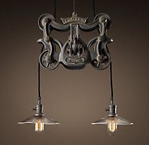 Cast Iron Barn Door Trolley Pendant For Over Island With Images