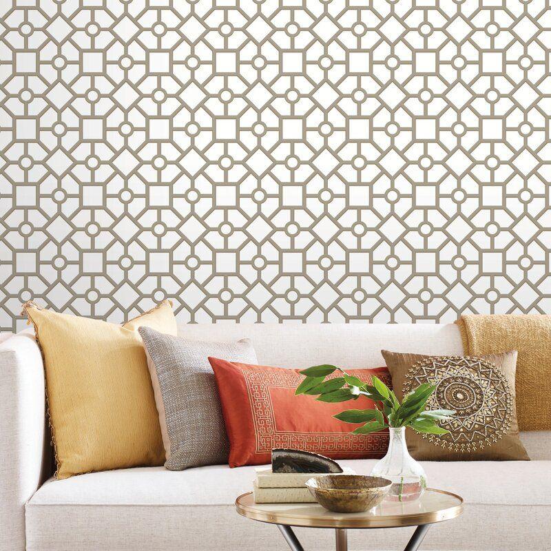 Wrought Studio Markieff Hedgerow Trellis 16 5 L X 20 5 W Peel And Stick Wallpaper Roll Wayfair Peel And Stick Wallpaper Wallpaper Roll Wall Coverings