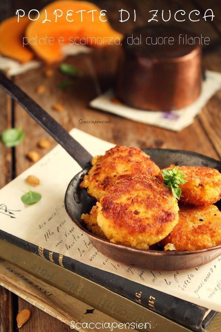 Polpette di zucca e patate con cuore filante - ricetta facile e gustosa #fitness #con #patate #ricet...